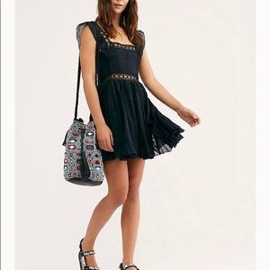 Free people best little black dress size M NWT